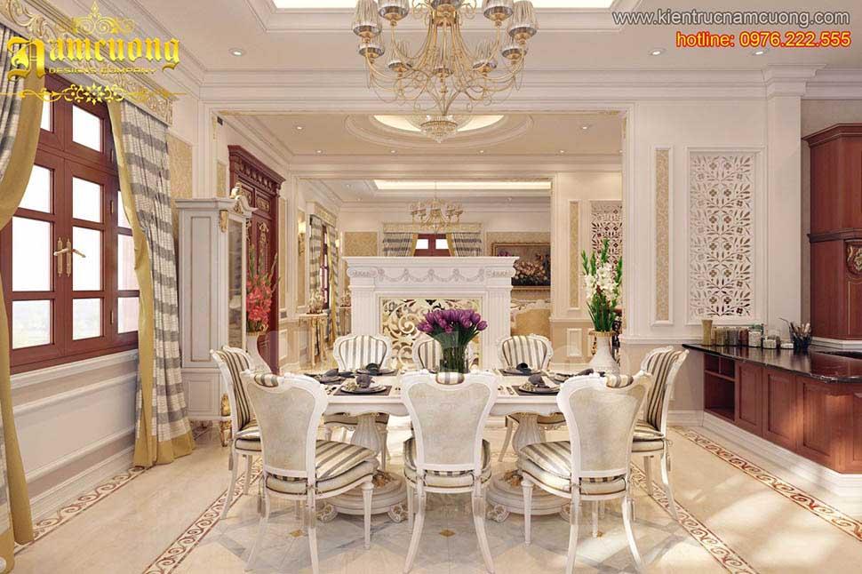 Thiết kế nội thất phòng ăn cổ điển ấn tượng