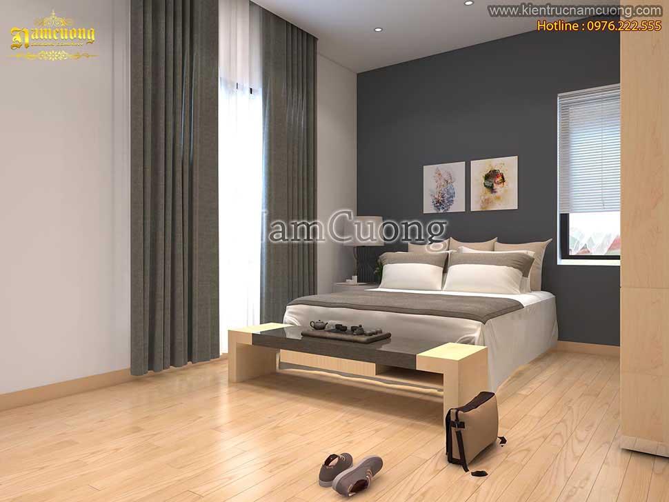 Mẫu thiết kế phòng ngủ hiện đại 35m2 đẹp