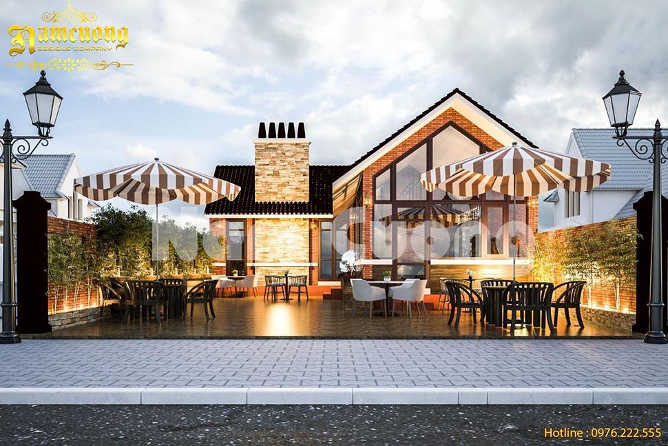 Thiết kế quán cafe ngoài trời với không gian yên tĩnh