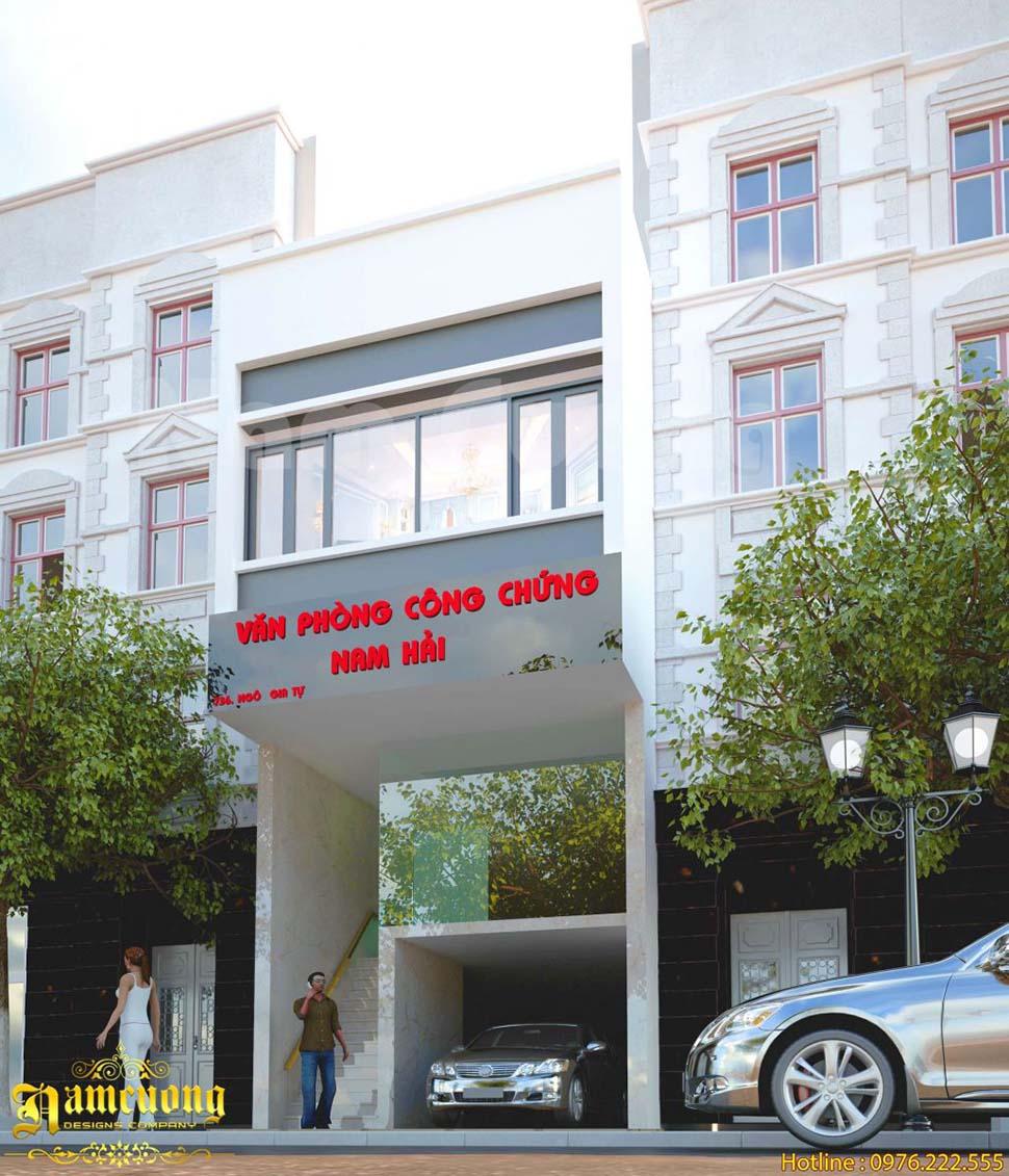 Thiết kế văn phòng nhà ống hiện đại, sang trọng