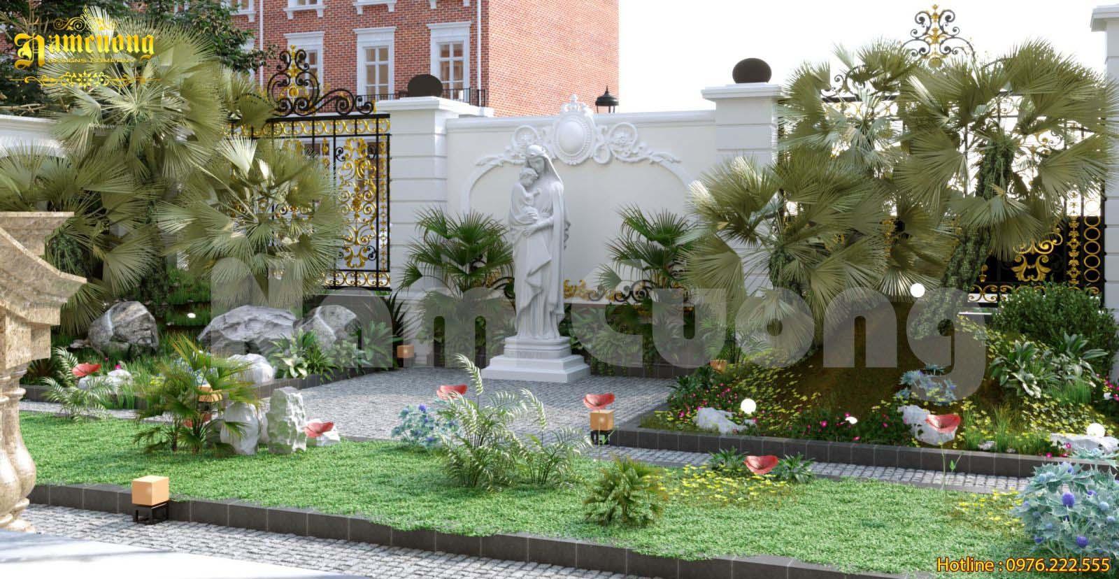 Ý tưởng thiết kế tiểu cảnh sân vườn hoàn hảo cho không gian biệt thự