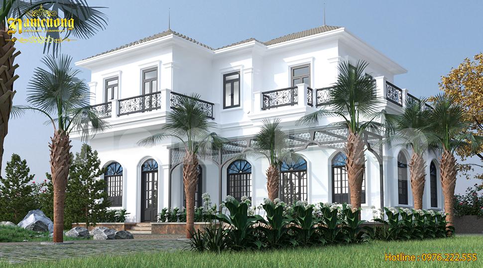 Mẫu thiết kế biệt thự 2 tầng sân vườn đẹp