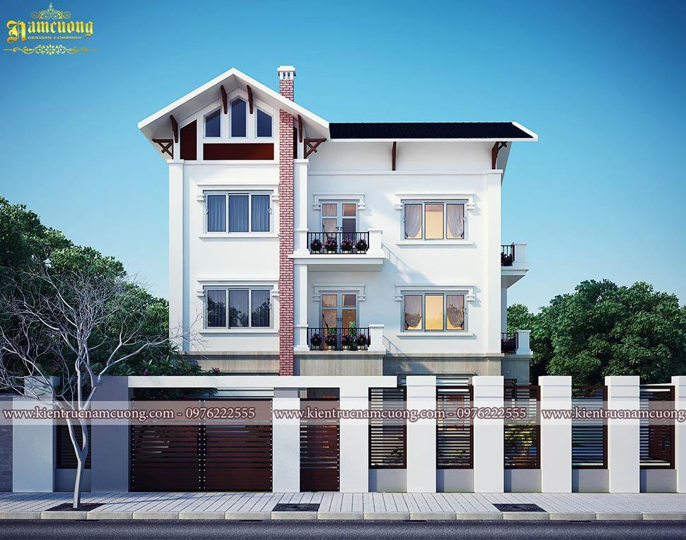 Thiết kế biệt thự 3 tầng 1 tum hiện đại
