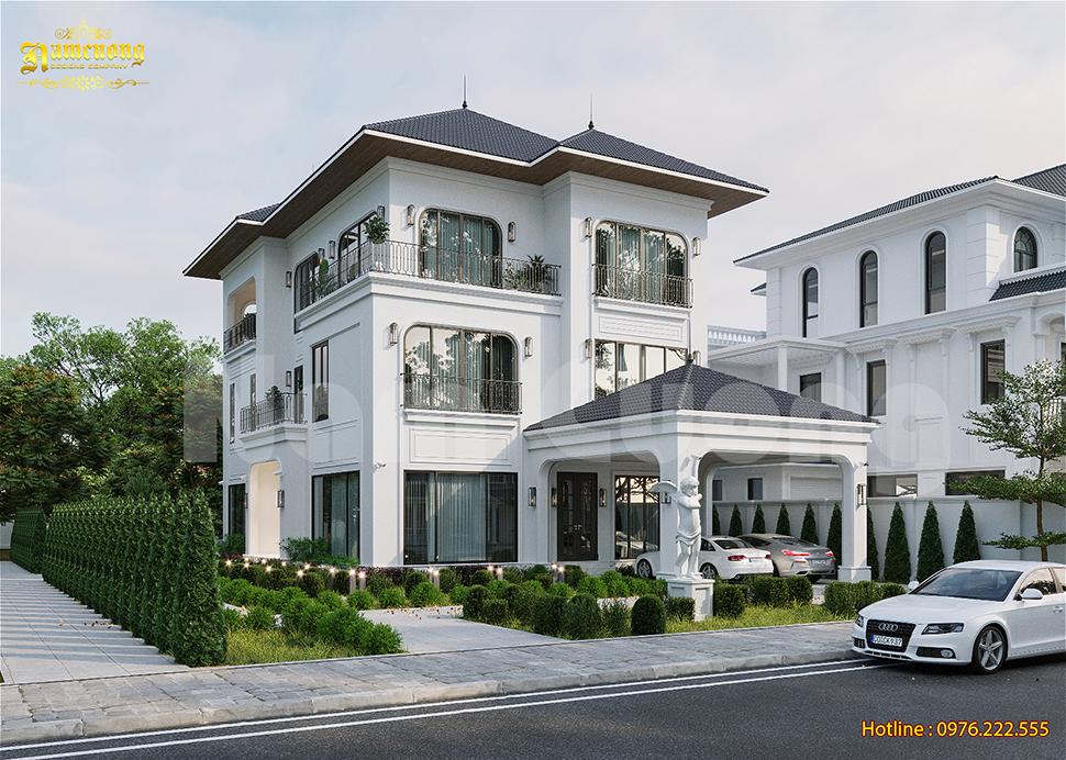 Mẫu thiết kế biệt thự 3 tầng 15x20m hoành tráng