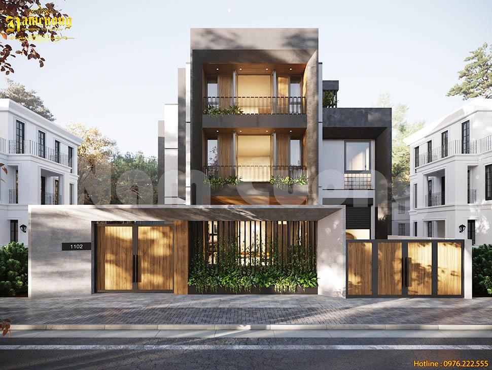 Vẻ đẹp của mẫu thiết kế biệt thự hiện đại mặt tiền 10m Sài Gòn