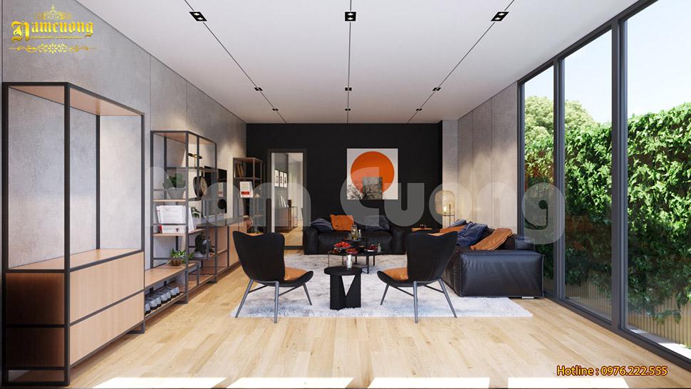 Thiết kế nội thất biệt thự hiện đại phong cách Industrial