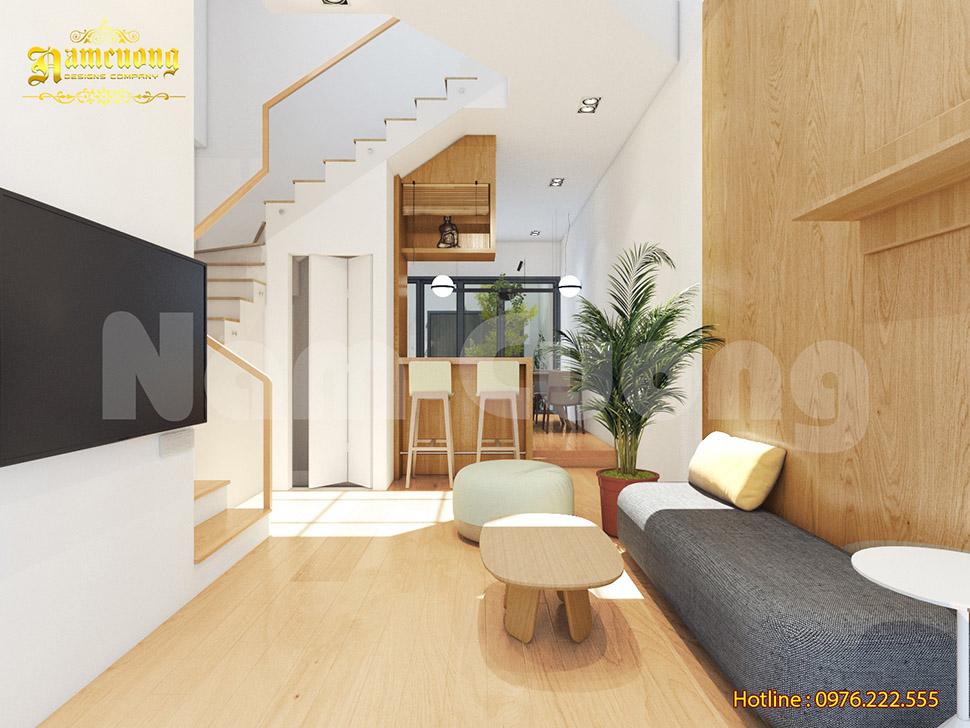 Thiết kế nội thất cho nhà ống hiện đại 3 tầng