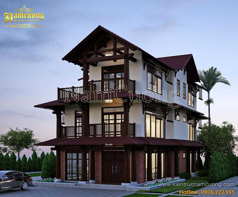Thiết kế biệt thự kiến trúc á đông đẹp mê người