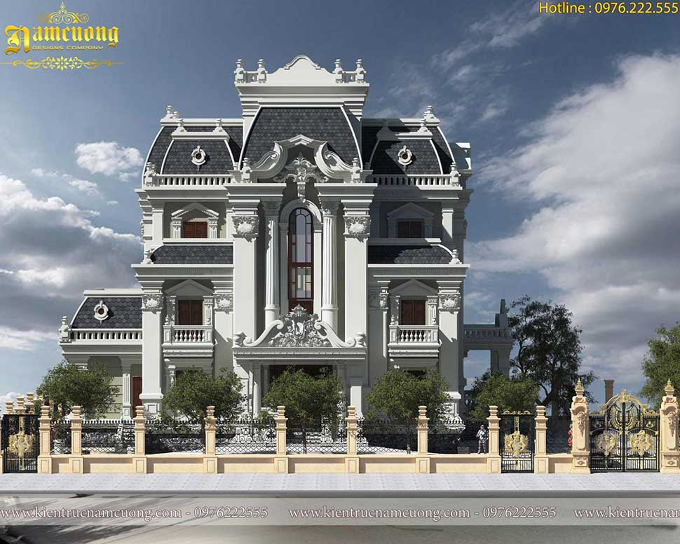 Ấn tượng của mẫu thiết kế biệt thự kiểu Pháp 1500m2 đẹp