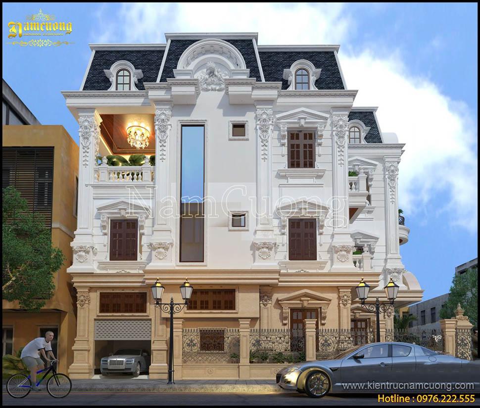 Mẫu biệt thự kiến trúc Pháp cổ điển sang trọng tại Hải Phòng