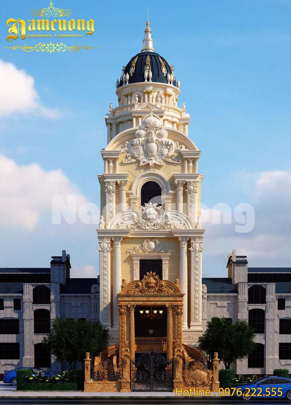 Hoàn thành mẫu thiết kế biệt thự lâu đài đẳng cấp tại Bắc Ninh - BTLD 030