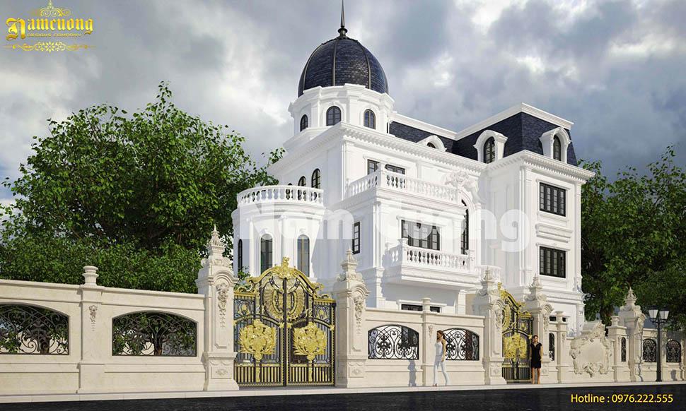Mẫu thiết kế biệt thự lâu đài sang trọng tại Thái Bình - BTLD 031