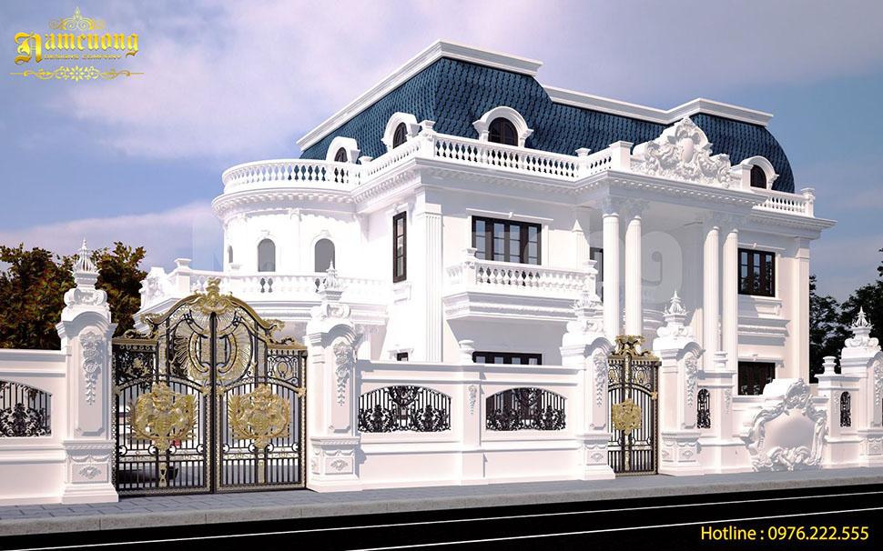 Hoàn thành thiết kế tòa lâu đài nguy nga lộng lẫy tại Thái Bình - BTLD 031