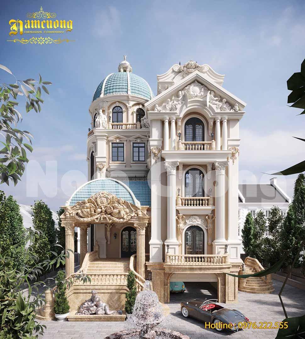 Mẫu thiết kế biệt thự lâu đài đẳng cấp tại Sài Gòn