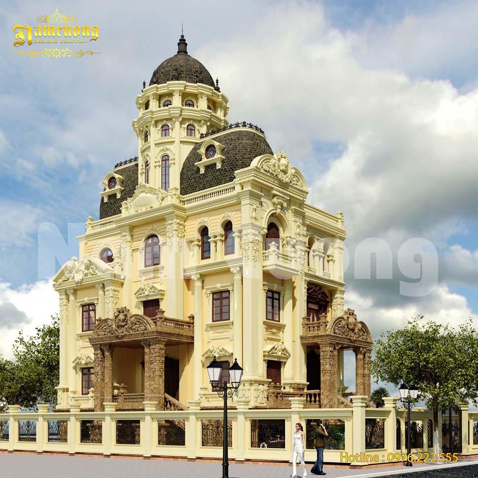 Thiết kế nhà đẹp phong cách lâu đài 4 tầng ấn tượng