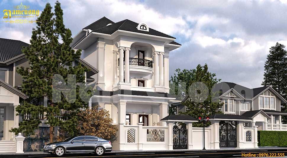 Chiêm ngưỡng mẫu biệt thự 3 tầng kiểu Pháp mini đẹp mãn nhãn
