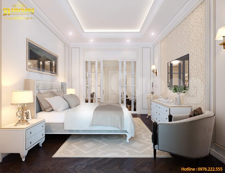 Thiết kế nội thất phòng ngủ cho nhà ống kiểu Pháp tại Hải Phòng-CĐT anh Thịnh