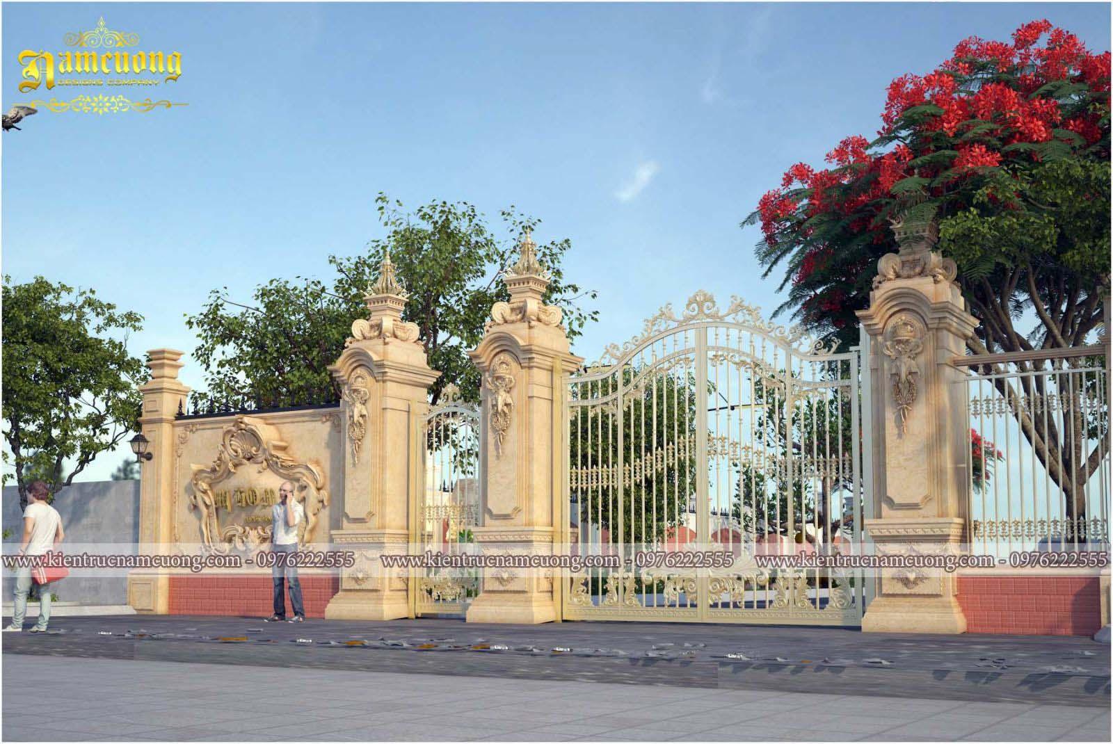 mẫu  thiết kế tiểu cảnh sân vườn biệt thự