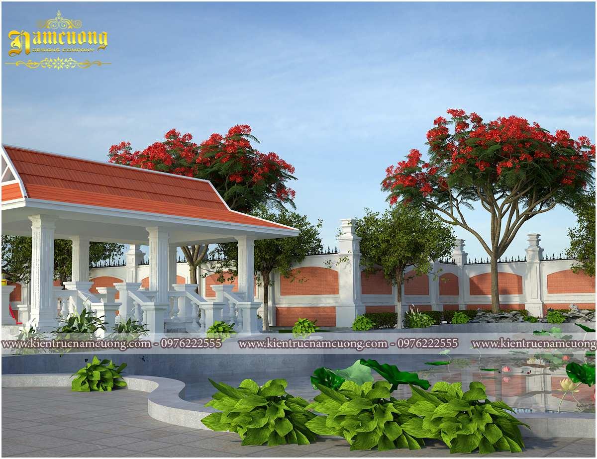 thiết kế tiểu cảnh sân vườn biệt thự