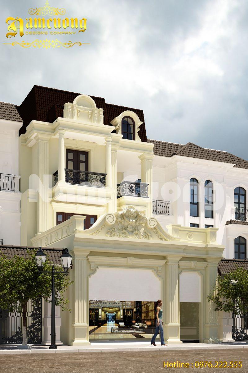 Mẫu thiết kế nhà ống 3 tầng tân cổ điển đẹp tại Kiên Giang