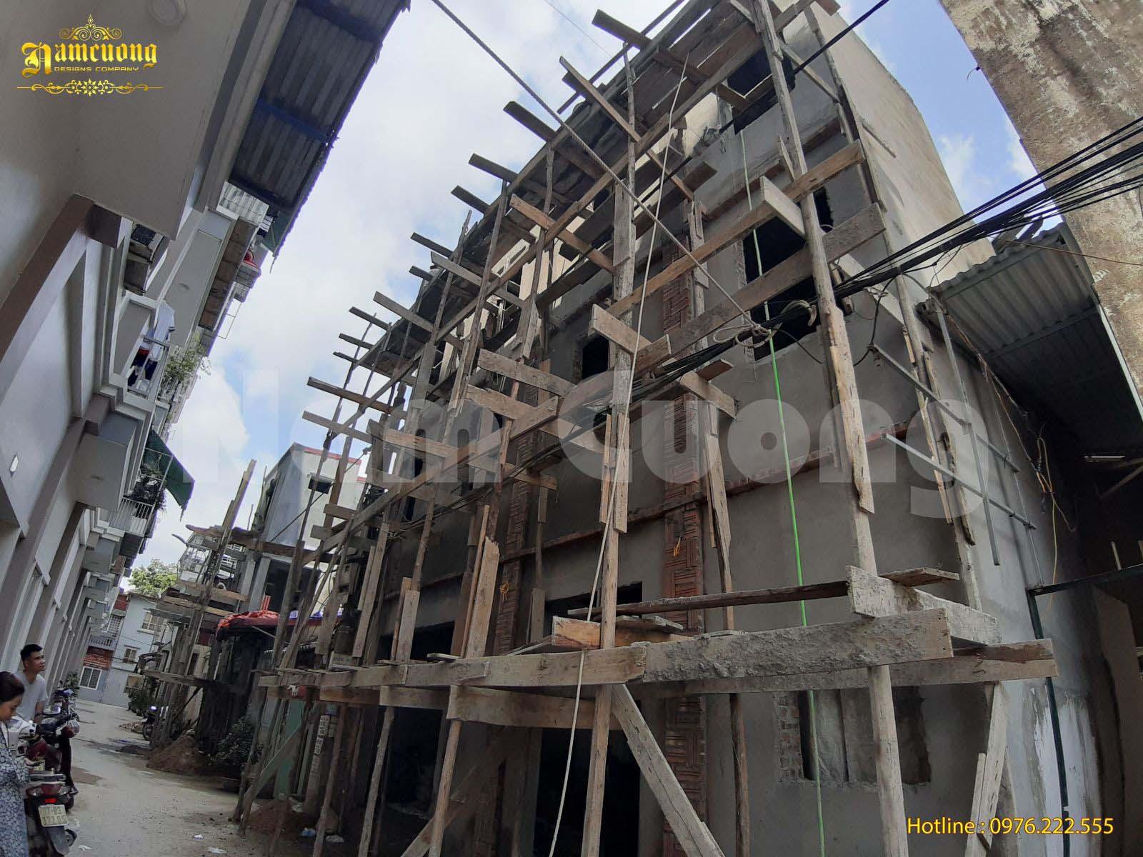 Thi công nhà đẹp- Cải tạo nhà nhỏ 3 tầng tại Hải Phòng