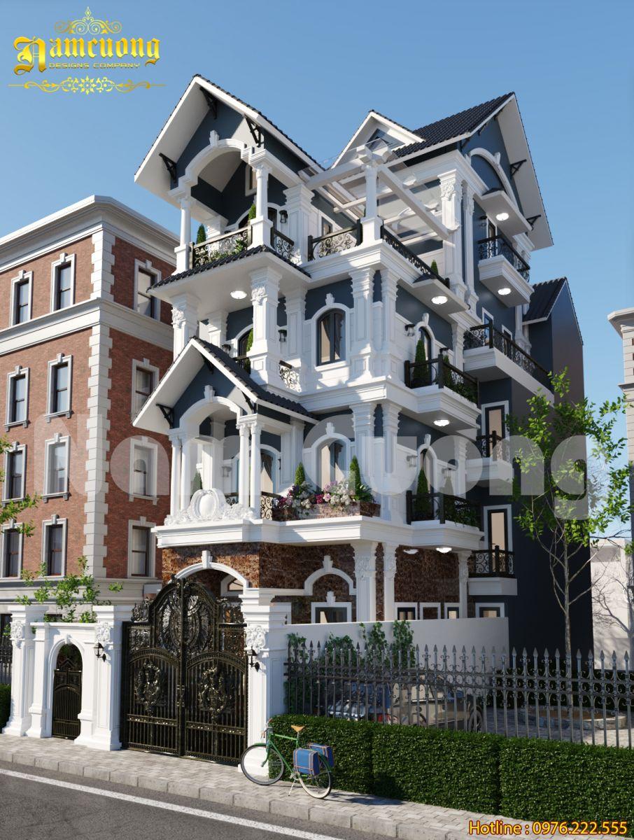 Gợi ý mẫu biệt thự Pháp 4 tầng mái thái đẹp cho gia chủ khó tính