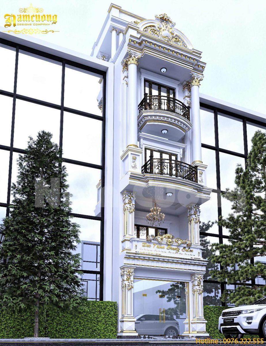 Hoàn thành thiết kế nội-ngoại thất nhà phố tân cổ điển tại Bắc Ninh