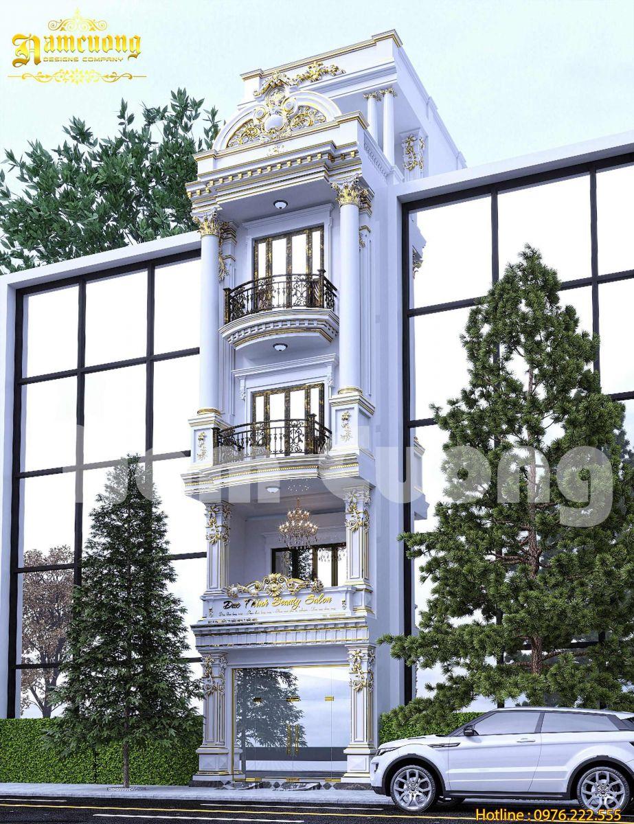Mẫu thiết kế nhà phố tân cổ điển đẹp 5 tầng tại Bắc Ninh- NPTCD 5191