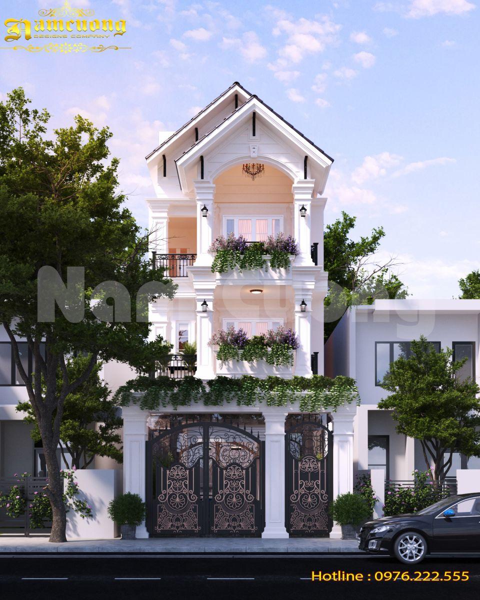 Giới thiệu mẫu nhà phố tân cổ điển 3 tầng 6x16m tại Hải Phòng-NPTCD 5192