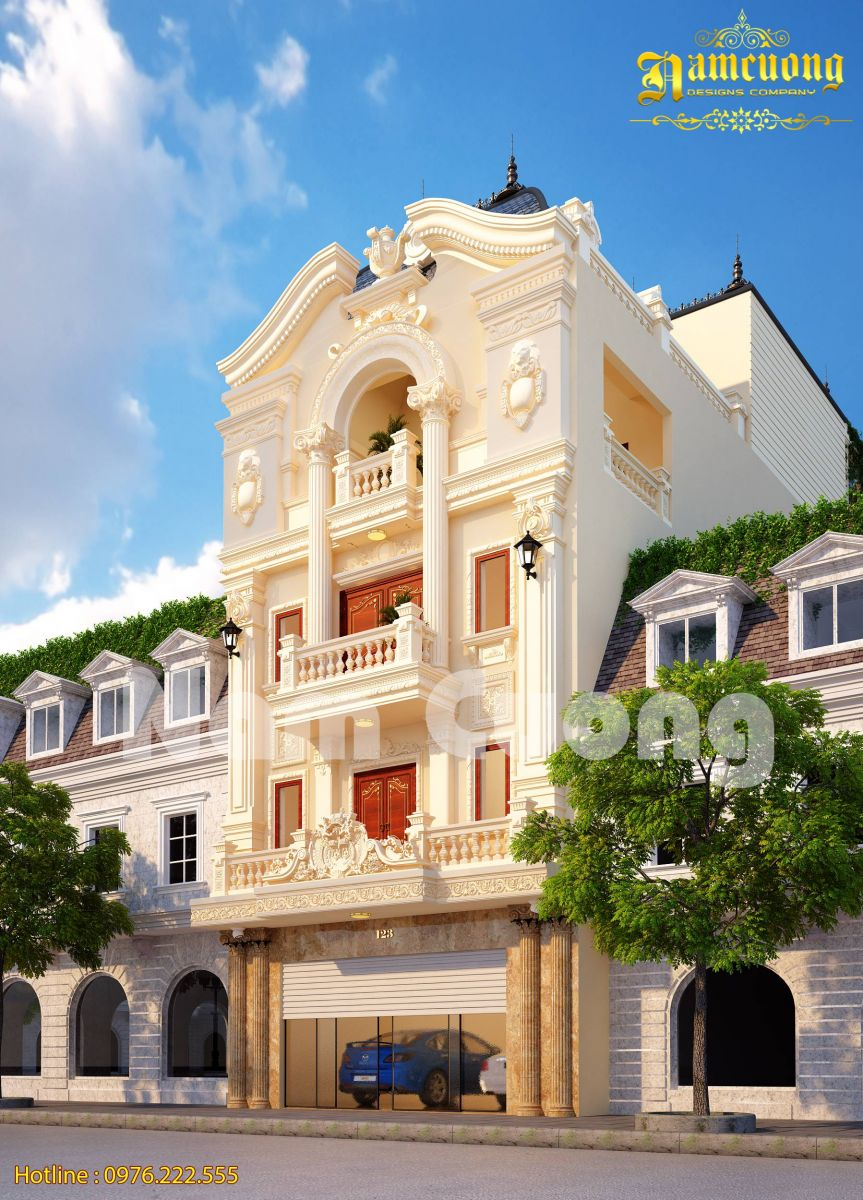 Chiêm ngưỡng vẻ đẹp ấn tượng trong mẫu nhà phố kiến trúc Pháp