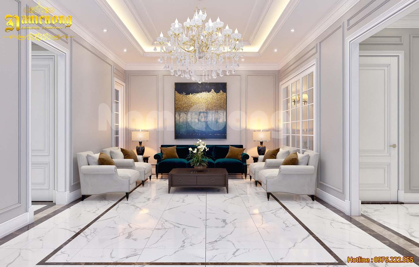 Vẻ đẹp hoàn mỹ trong mẫu nội thất biệt thự tân cổ điển tại Hải Dương