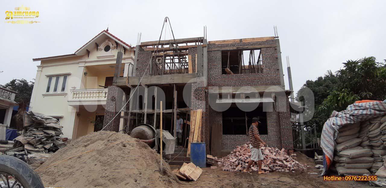 Thi công nhà đẹp- Thi công phần thô biệt thự 3 tầng