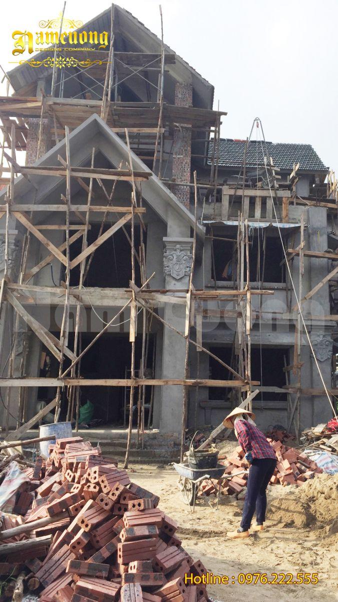 Thi công nhà đẹp 3 tầng tại Hải Phòng-CĐT chú Tiếm