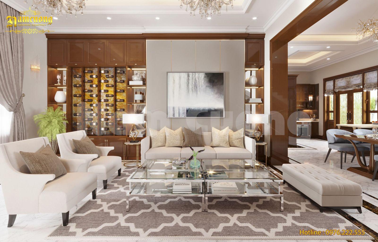 Hoàn thành nội thất tân cổ điển cho biệt thự 3 tầng