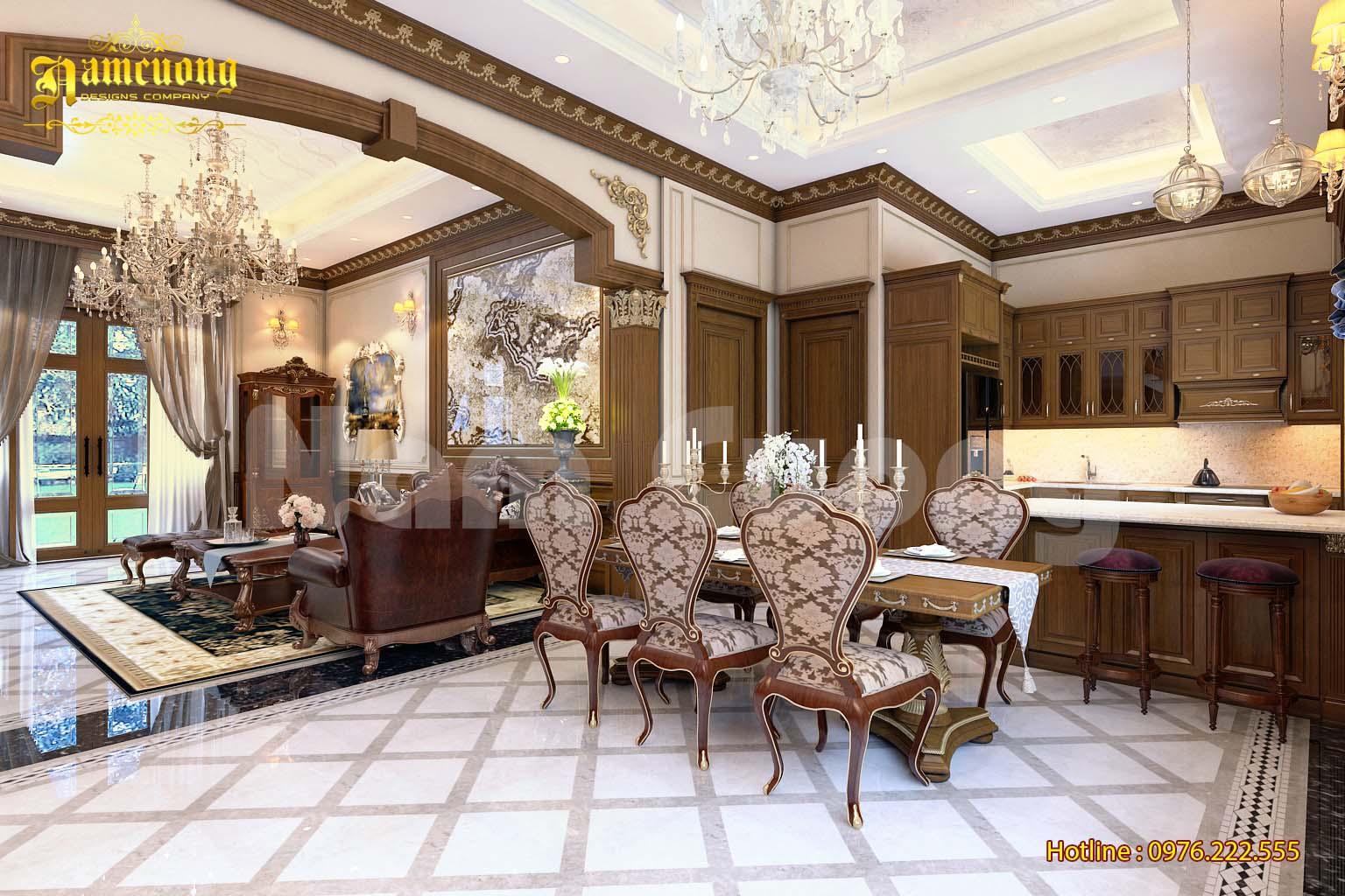 Thiết kế nội thất cho biệt thự tân cổ điển 3 tầng