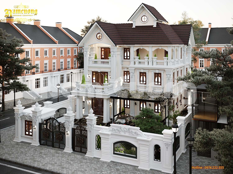 Thiết kế biệt thự tân cổ điển kiến trúc Pháp - CĐT Khúc Hữu Thanh Hải