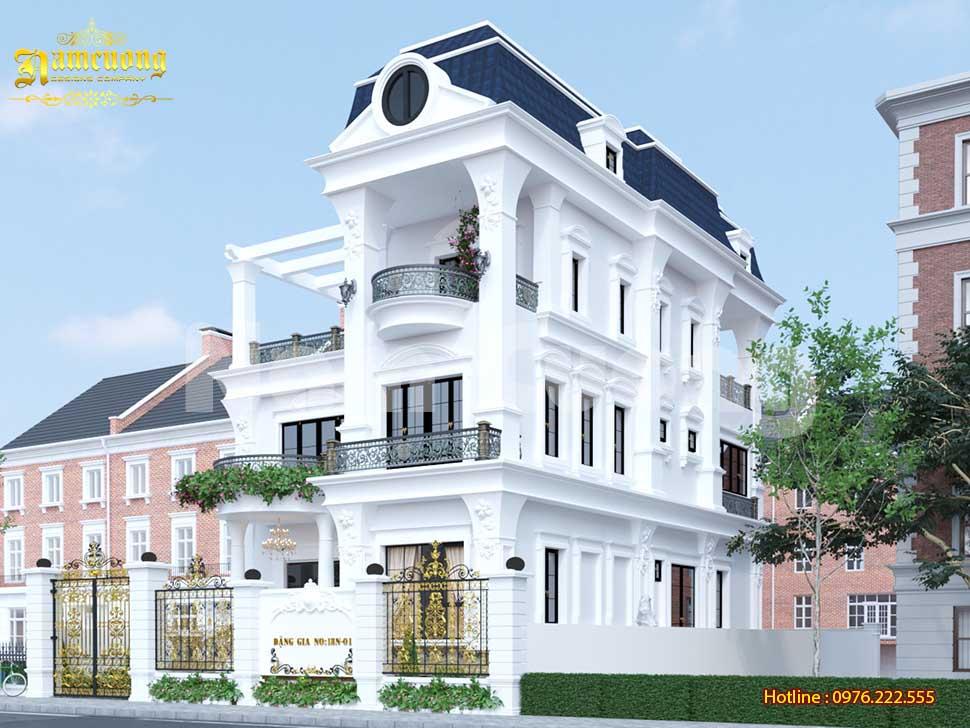 Vẻ đẹp tinh tế của mẫu thiết kế biệt thự 3 tầng 2 mặt tiền
