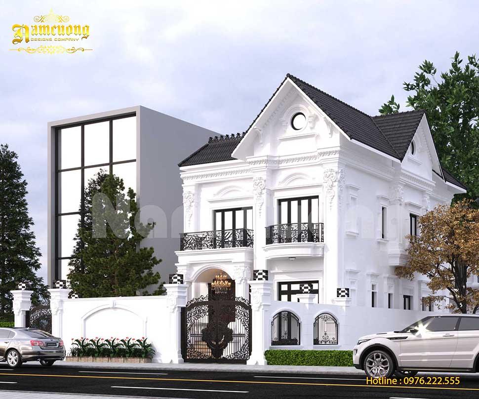 Thiết kế biệt thự 2 tầng Châu  âu sang trọng