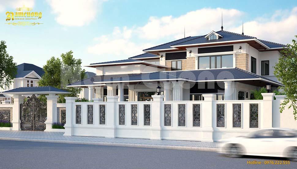 Mẫu biệt thự vườn 2 tầng tân cổ điển đẹp tại Quảng Bình