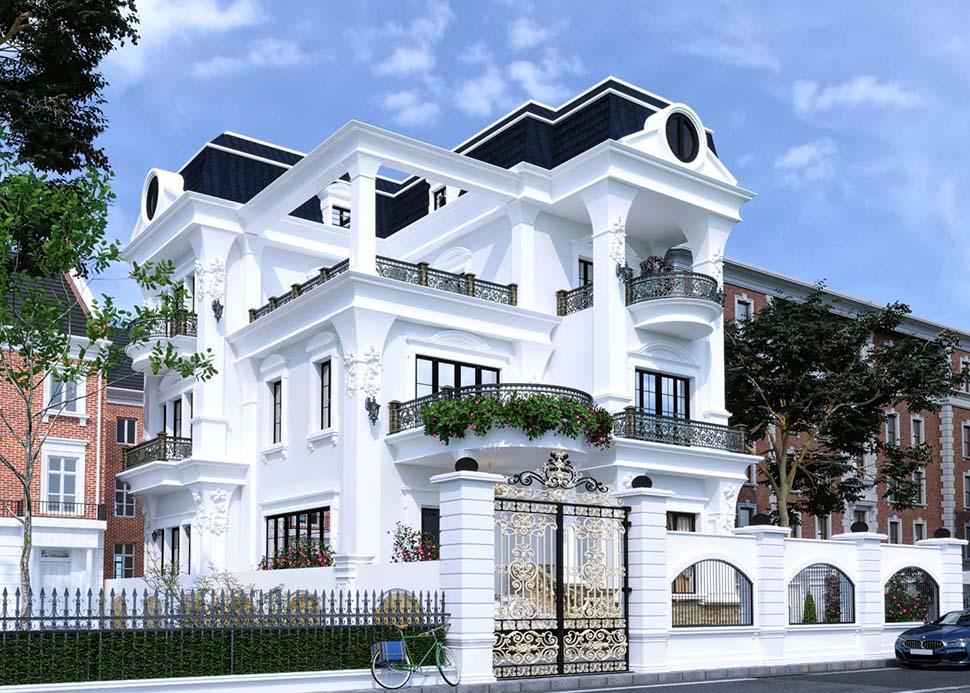Độc đáo với thiết kế biệt thự 3 tầng tân cổ điển tại Hà Nội-BTTCD 16791