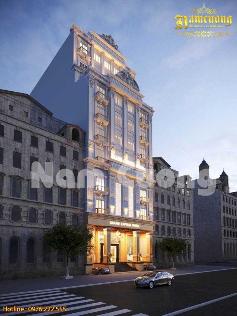 Mẫu thiết kế khách sạn 4 sao 11 tầng đẳng cấp