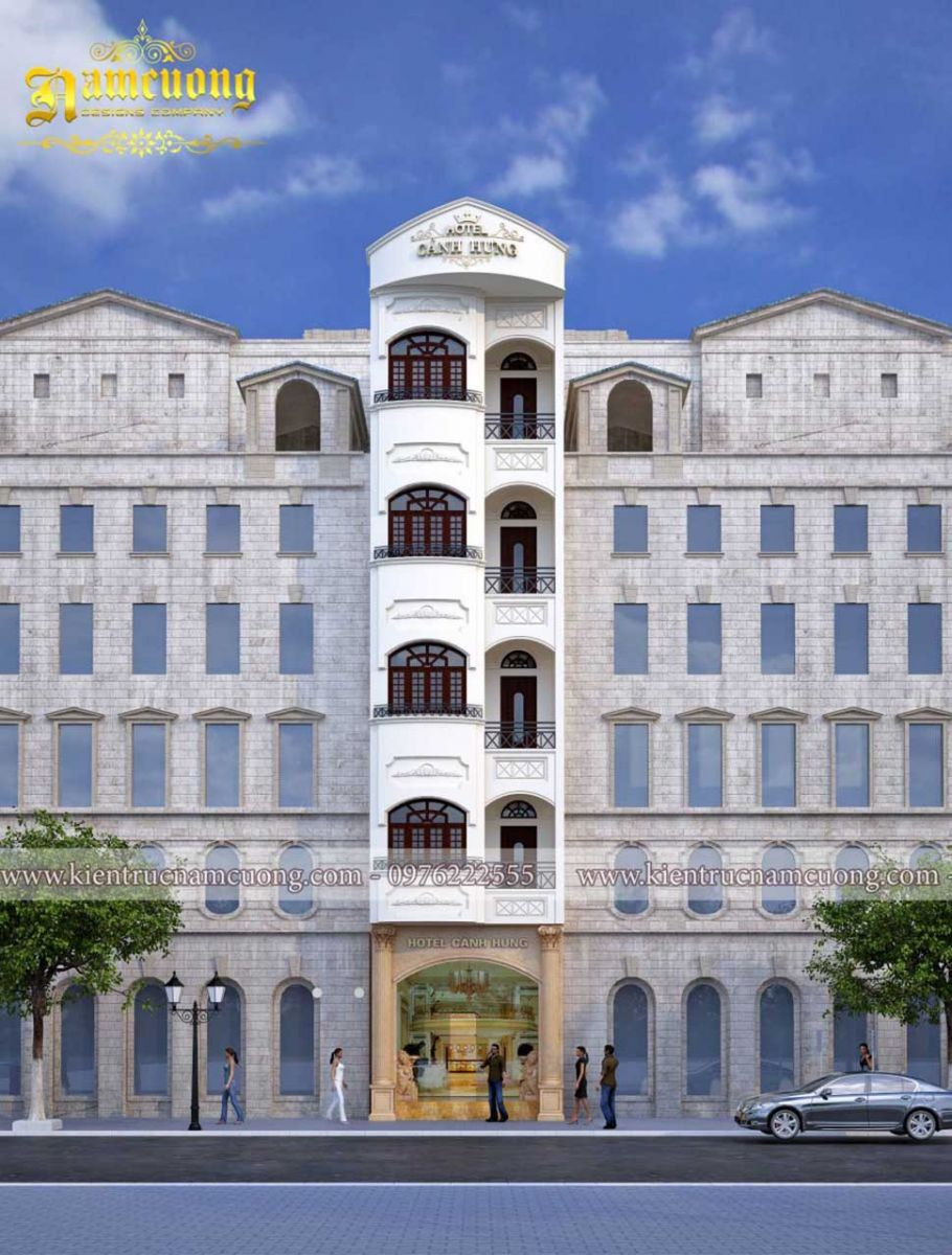 Tổng hợp các mẫu khách sạn 5 tầng đẹp nhất