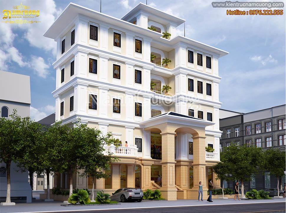 Mẫu thiết kế khách sạn 5 tầng tại Quảng Ninh đẳng cấp