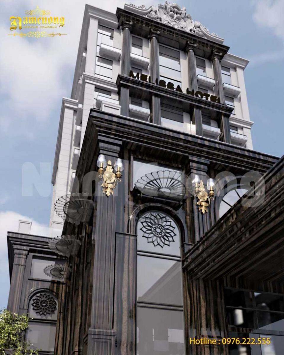 Mẫu khách sạn tân cổ điển 2000m2 cực đẹp
