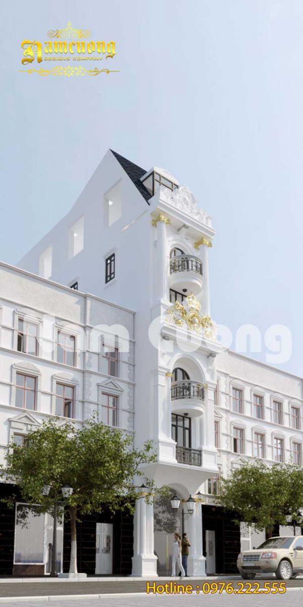 Hình ảnh ấn tượng của mẫu khách sạn tân cổ điển mặt tiền 6m