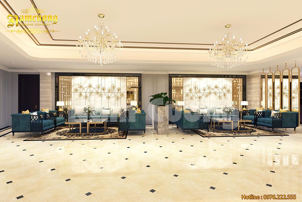 Image result for Trang trí sảnh chờ khách sạn với gam màu vàng