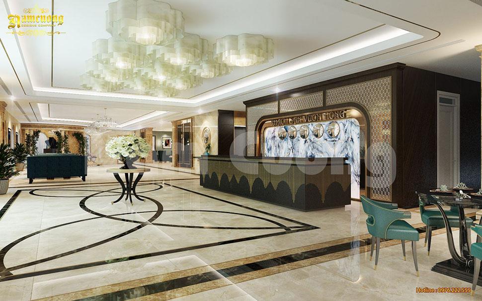 Thiết kế sảnh khách sạn tân cổ điển tại Quảng Ninh