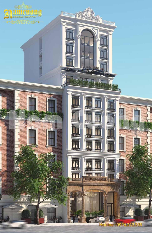 Thiết kế khách sạn 11 tầng tân cổ điển tại Cao Bằng