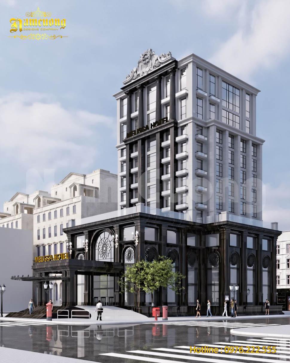 Mẫu thiết kế khách sạn 14 tầng tại Quảng Ninh