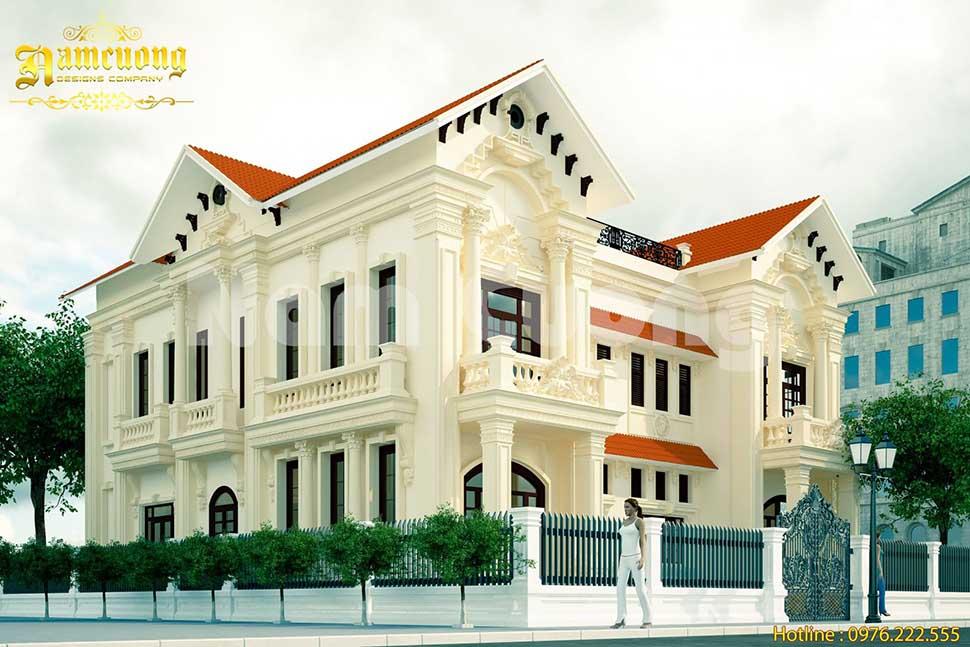 Kiến trúc biệt thự tân cổ điển mái ngói cao cấp
